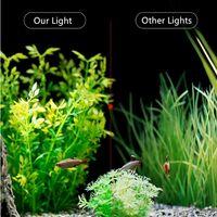 Lumiere Aquarium Lampe LED Eclairage Blanc et Bleu Nano à Clip pour Poisson Plantes 23-50 cm