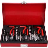 Kit de réparation de Filetage, M6/M8/M10 Coffret de 88pcs Outils de Réparation de Filetage Inserts Filetés Compatible Outil Réparation Automobile