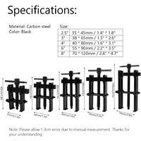 Quatre pouces Extracteur de roulement réglable à deux mâchoires en acier au carbone - extracteur droit pour pompe et poulie