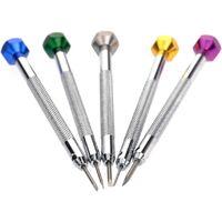 - 5 tournevis de précision - Lame plate fendue - Outils de réparation d'horloger - 0,8 à 1,6 mm