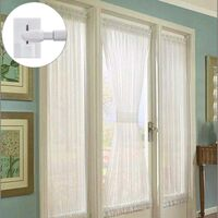 12Pcs Crochet Fenêtre Adhésif Accroche Rideau PVC Accroche Tringle sans Percage Crochets Autocollants pour Barres de Rideaux Nettes Blanc 2.7 x 1.9 cm