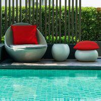 Lot de 4 housses de coussin décoratives imperméables pour l'extérieur, housse de coussin imperméable pour jardin balcon patio carré, coque d'oreiller en revêtement PU pour canapé, lit, patio, canapé, tente, 18 x 18 pouces (rouge)