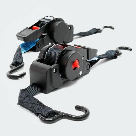 4x Automatik Zurrgurt 100 daN Zuglast LGF 0,2 m LGL 1,8 m PES