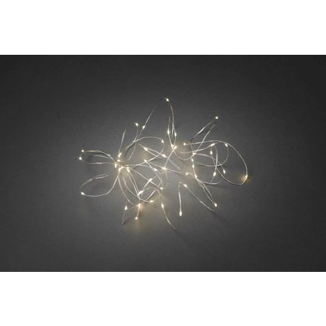 Christmas Party Warm White Fairy String Lights 50 LED Flexible Silver Wire Plug