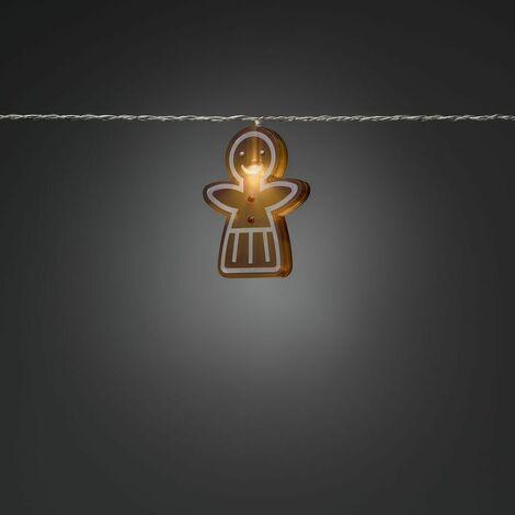 Xmas Decoration Indoor 8 LEDs Novelty Gingerbread Girl Style string Lights