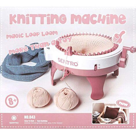 """Machine a tricoter a la main, metier a tisser bricolage, pour echarpe chapeau enfants adultes, 48 aiguilles (16.14x15.35x9.06"""")"""