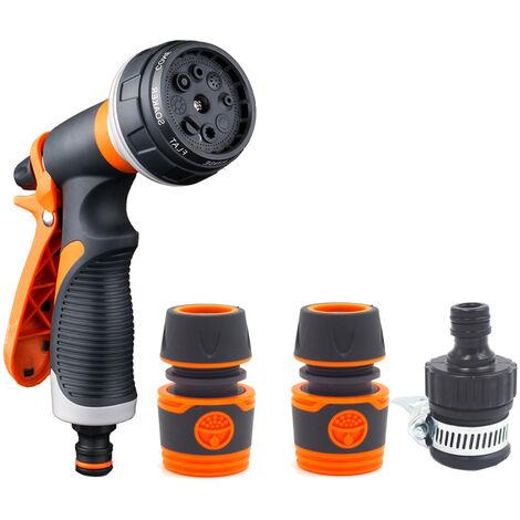 Pistolet d'arrosage, Pistolet Arrosoir, 8 Modes d'arrosage Multifonctionnel Pulverisateur de Jardin, Lave-auto, Arrosage pelouse et