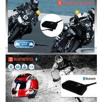 2 x Intercom Moto Vnetphone V6-1200 Sans Fil Radio Oreillette BT etanches avec Micro 1200M pour 6 Motards /Amateurs de ski (2pcs)