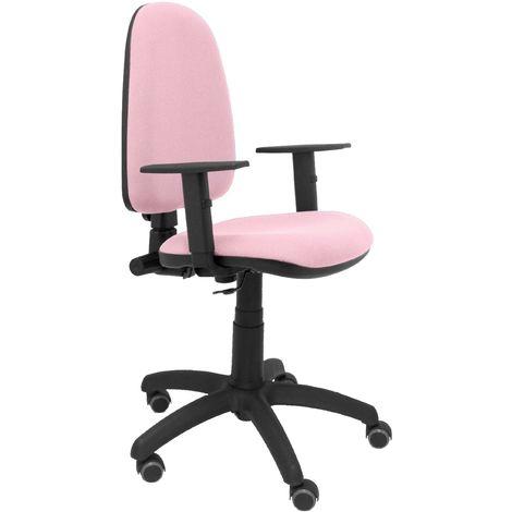 Ayna bali chaise rose pâle bras réglables roues de parquet