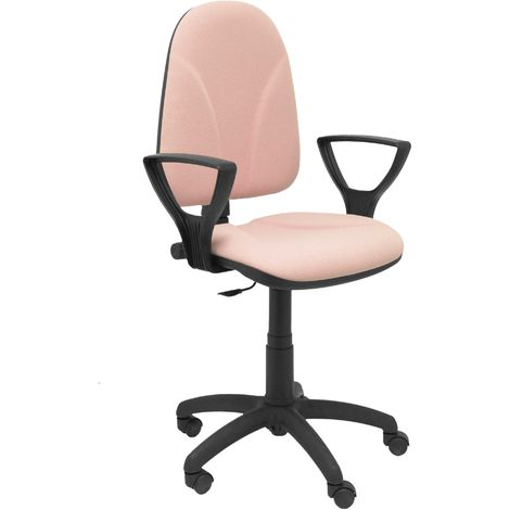 Chaise rose Algarra à bras fixes