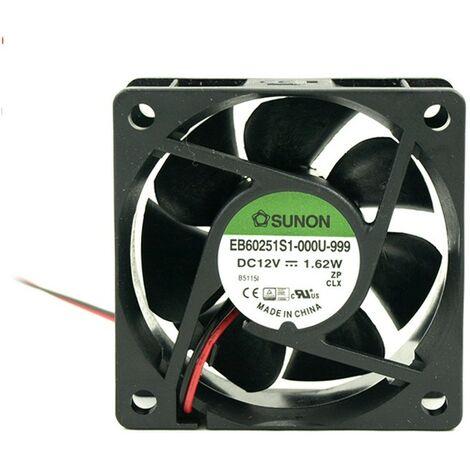 Ventilateur 12Vdc 60x60x25mm 2 fils tricotés 1,62W