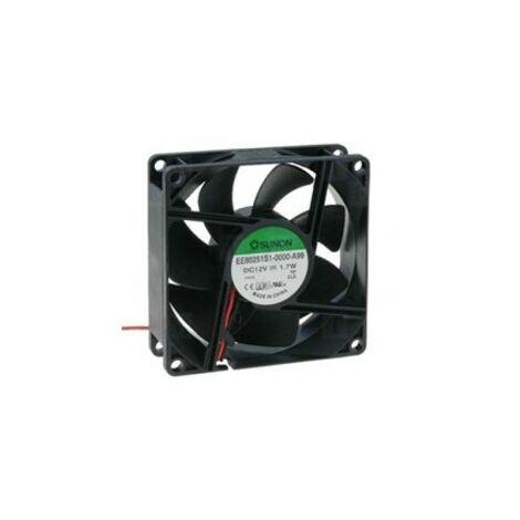 Ventilateur 12Vdc 80x80x25mm 2Fricci wires 1,7W