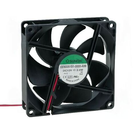 Ventilateur 12Vdc 92x92x25mm 2W Friction Wire