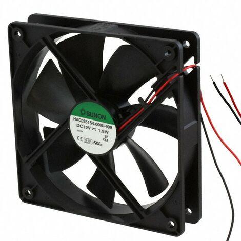 Ventilateur 12Vdc 120x120x25mm 2Fils Fricci 1,9W