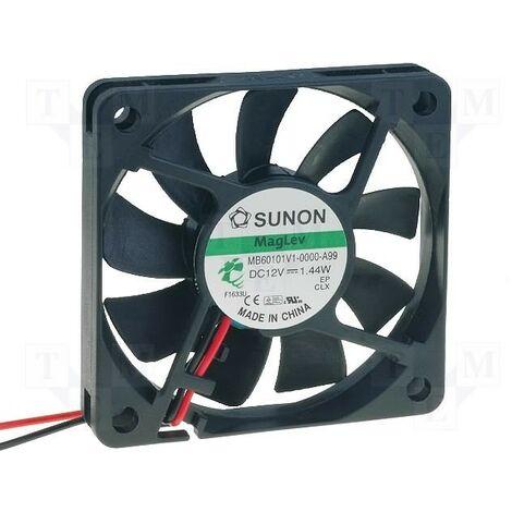 Ventilateur 12Vdc 60x60x10mm 2Wire Friction 2Wire