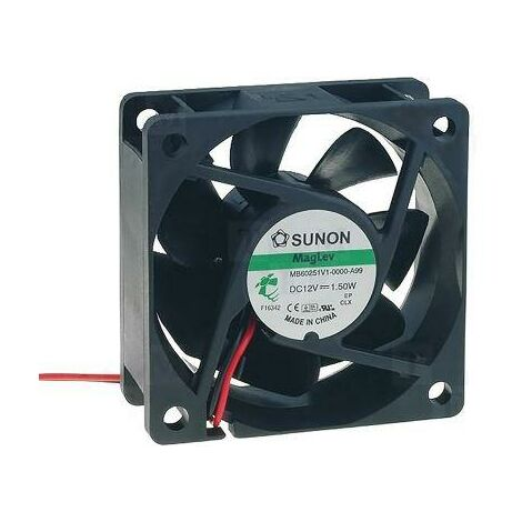 Ventilateur 12vdc Mesures 60x60x25mm 2 fils Vapo 1,5w Mb60251v1a99 Sunon