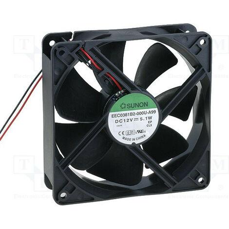 Ventilateur 12vdc 120x120x38mm 5,1w Roulement à billes Eec0381b2-000u-a99
