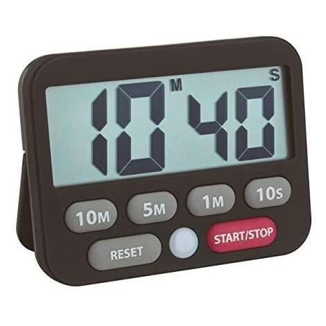 TFA Chronomètre numérique Dostmann Plastique noir 9 x 2 x 9 cm