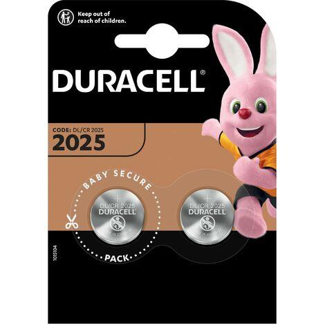 Duracell spécialités - électronique piles 2025 2pk pile à usage unique cr2025 lithium
