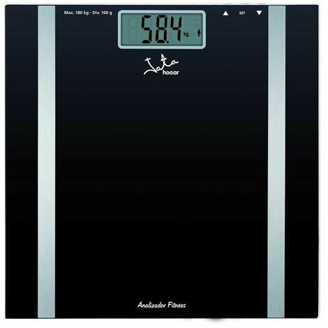 Pèse-personne jata hogar 531/ analyse corporelle/ jusqu'à 180kg/ noir.