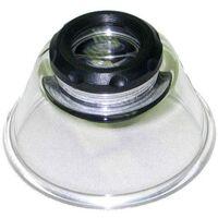 x10 Kaiser Base de la loupe à haute puissance, lentille à couleur corrigée