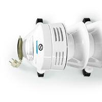 Nedis Radiateur mobile d'huile   1000 / 1200 / 2200 W   11 Fins   Thermostat réglable   3 Réglages de Chaleur   Protection contre les chutes   Blanc NE550716705