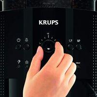 Krups EA81R8 Essential Machine à café super-automatique, pression de 15 bar, moulin à café conique en métal, avec sélection de la quantité et de la force du café, réservoir de 1,7 l, fonction vapeur.