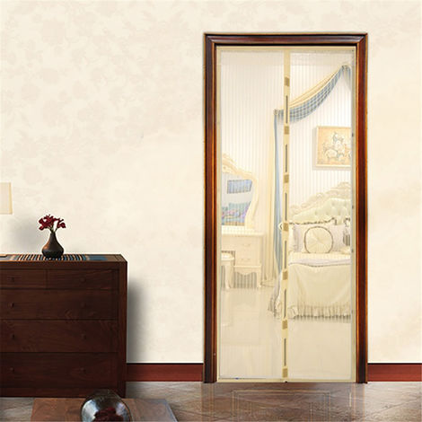 Rideaux magnétique anti moustique - écran de porte de fermeture automatique Jaune110X220cm