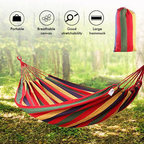 Hamac Portatif de Camping de Hamac de 2 Personnes pour le Jardin de Randonnée