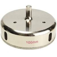 100mm Diamant Enduit Scie-cloche Foret Verre Tuile Ceramique Marbre