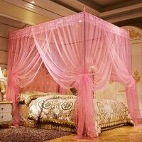 180 * 200cm Moustiquaire dentelle Literie Chambre à coucher Décor (rose)
