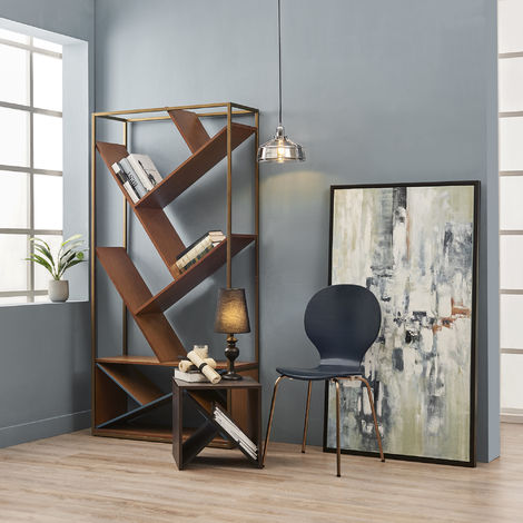 Versanora Colton Metal Table Lamp with Black Fabric shade, THL00007UK