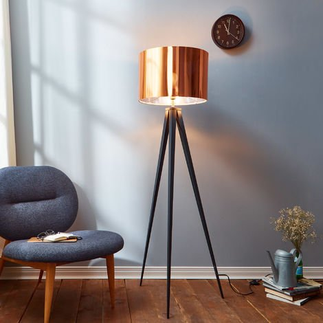 Tripod Floor Lamp with Copper Shade by Versanora Modern Lighting VN-L00005-UK