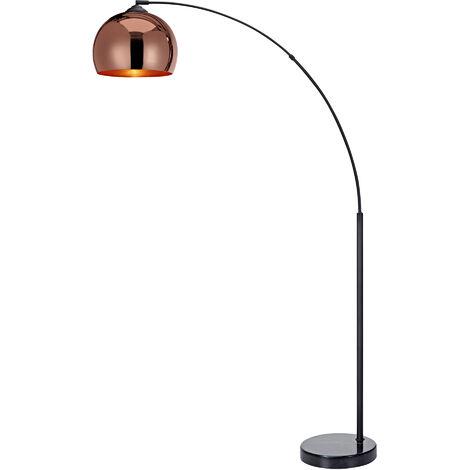 Curved Arquer Floor Lamp Copper Shade by Versanora Modern Lighting VN-L00011-UK