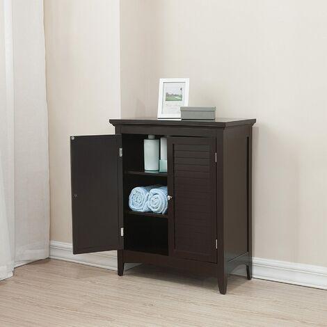 Elegant Home Fashions Bathroom Cabinet Cupboard Unit Set 3 pcs Brown ELG-FSETB