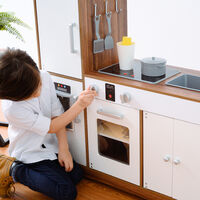 Teamson Kids Palm Springs Kids Wooden Play Kitchen & 6 Accessories White TD-13404B