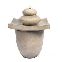 Peaktop Outdoor Garden Patio Zen Tier Water Fountain Feature With LED VFD8402-UK
