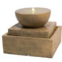 Peaktop Outdoor Garden Patio Decor Tier Water Foutain Feature LED VFD8401-UK