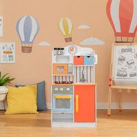 Teamson Kids Little Chef Childrens Toy Wooden Play Kitchen for Boys & Girls TD-11708R