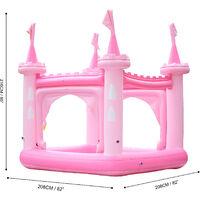 Château gonflable air de jeux aquatique piscine pour enfant avec arroseurs et pompe rose Teamson Kids TK-48271P-UK/EU