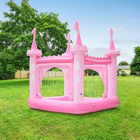 Château gonflable air de jeux aquatique piscine pour enfant avec arroseurs et pompe rose Teamson Kids TK-48271PC-UK/EU