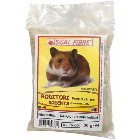 Fibre de coton pour nid de rongeur dans le kapok 36 g