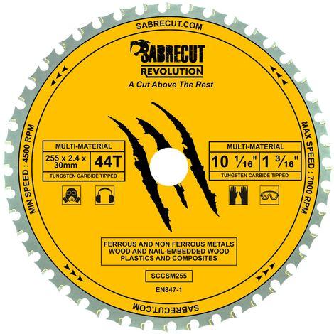 1pc SabreCut 255mm 44T Multi-Material Saw Blade - SCCSM255_44