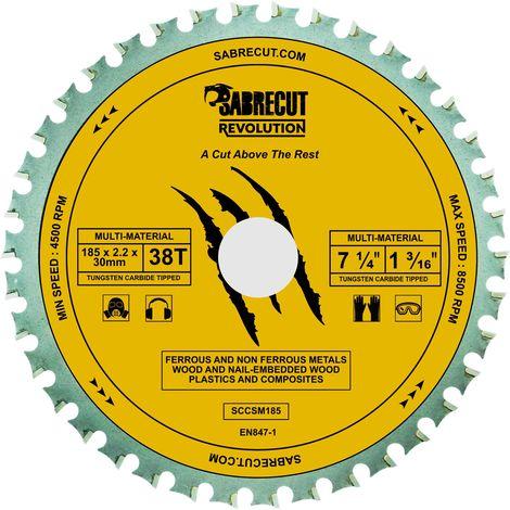 1pc SabreCut 185mm 38T Multi-Material Saw Blade - SCCSM185_38