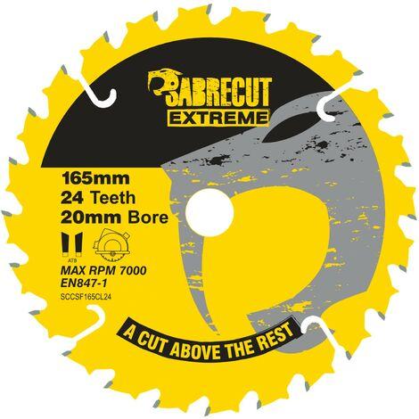 1pc SabreCut 165mm 24T Saw Circular Saw Blade - SCCSF165CL24