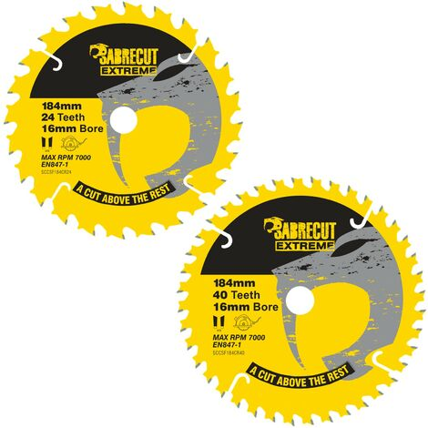 2pcs SabreCut 184mm 24/40T Saw Blades - SCCSFK184CR
