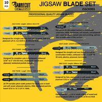 10pcs SabreCut Jigsaw Blade Set - JSSCK003