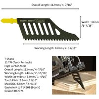 2pcs SabreCut T Shank Jigsaw Blades - JSSC2074_2
