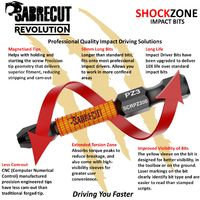 15pcs SabreCut 50mm PZ3 Impact Bits + Box SCRPZ35015B