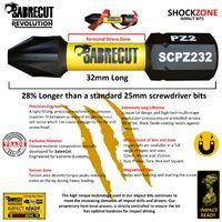 11pcs SabreCut 32mm PH2 Impact Bit Set - SCRKB11PH2